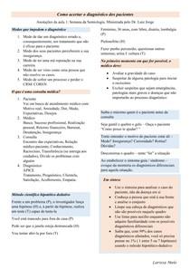 Como acertar o diagnóstico dos pacientes