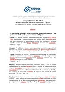 Atividade da AD1 HPA I - 2015 2º - Gabarito