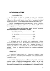 biologia do solo