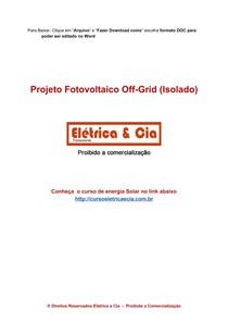Introdução ao Projeto Fotovoltaico Off-Grid