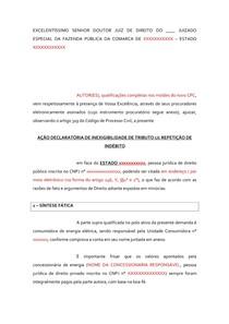 Petição Inicial Icms Energia Elétrica Modelodocx Direito