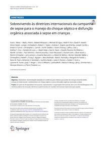 Surviving sepsis 2020 pediatria - Traduzido Português