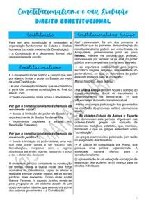 CONSTITUCIONAL I - EVOLUÇÃO HISTÓRICA