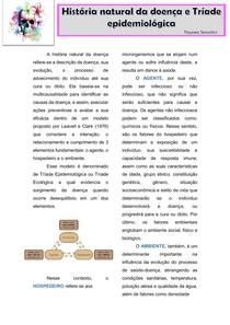 A história natural da doença - tríade epdemiológica
