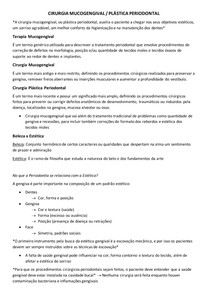 CIRURGIA MUCOGENGIVAL/PLÁSTICA PERIODONTAL