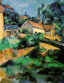 Paul Paul Cézanne - Turning Road at Montgeroult