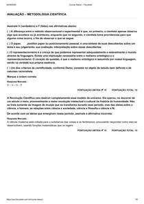 METODOLOGIA CIENTÍFICA Faculeste pdf prova respostas