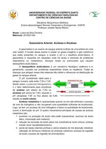 Gasometria Arterial - Acidose e Alcalose