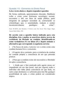 APOL 4   INQUERITO , ELEMNTO DIREITO PENAL