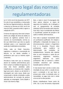 Amparo legal das normas regulamentadoras