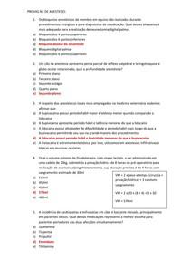 PROVAS N2 DE ANESTESIOLOGIA