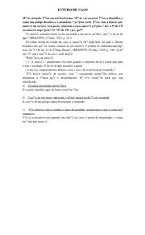 ESTUDO DE CASO - DIREITO PENAL