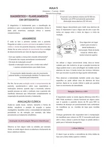 Diagnóstico e Planejamento em Ortodontia