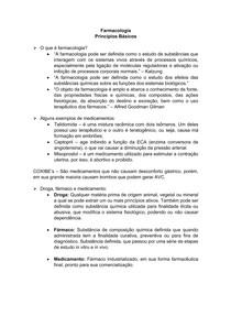 Princípios Básicos - Farmacologia