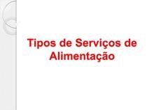 Tipos de serviços (institucional e comercial)