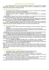 MATERIAIS DE FORRAMENTO E RESTAURAÇÃO