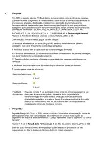 Terapêutica Medicamentosa - Avaliação 2 (N2)