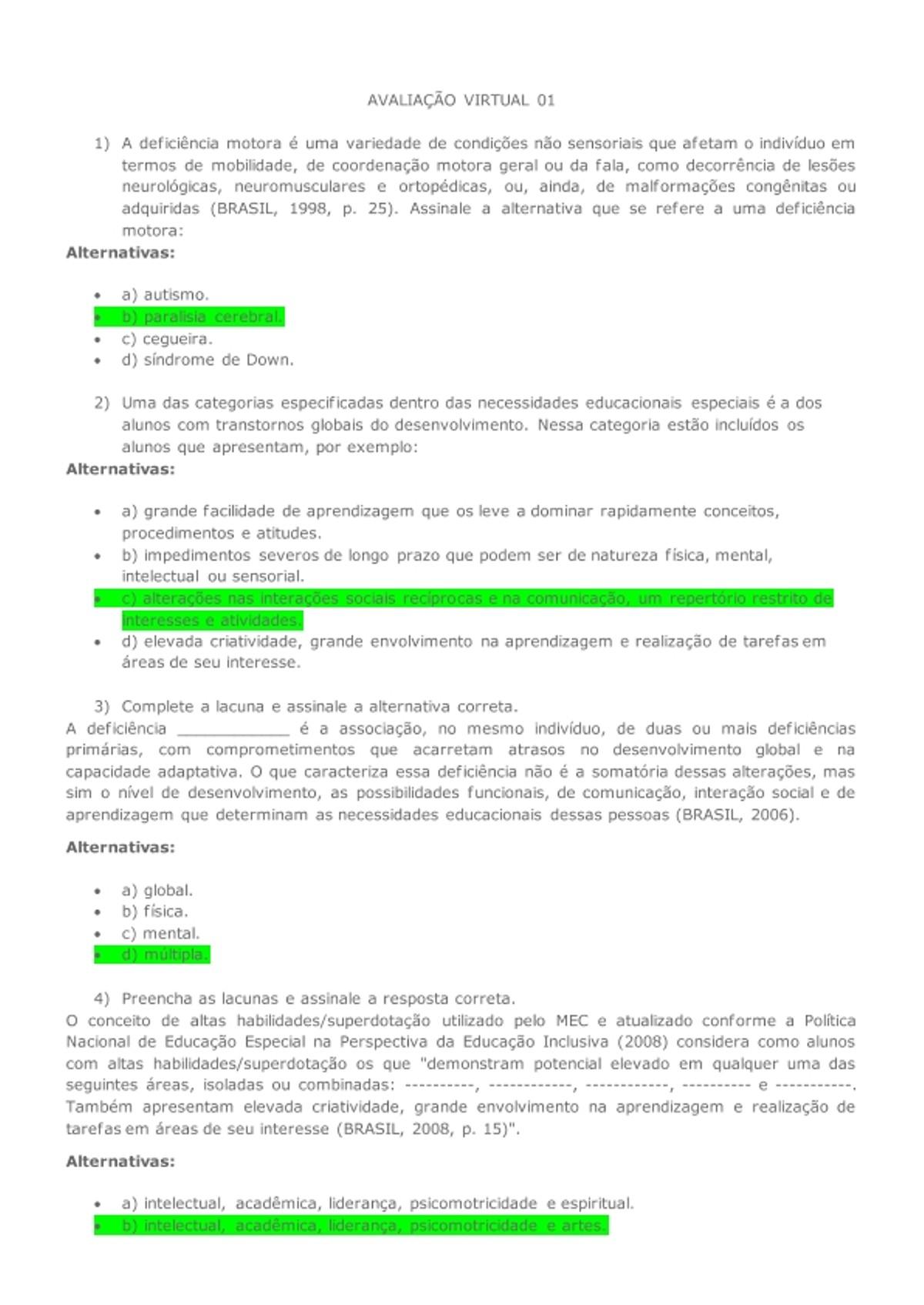 Pre-visualização do material AVALIAÇÃO VIRTUAL 01 - página 1
