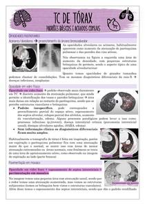 TC de tórax achados comuns