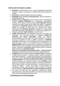 NEOPLASIAS DE PULMÃO E LARINGE