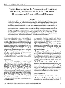 1999 AACAP Practice parameters for the assessment and treatment of children, adolescents, and adults with mental retardation and comorbid mental disorders