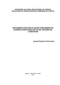 TRATAMENTO EM CÃES E GATOS COM DERMATITE ALÉRGICA POR PICADA DE PULGA