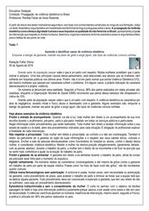 Proposta de redação - violência obstétrica - modelo ENEM