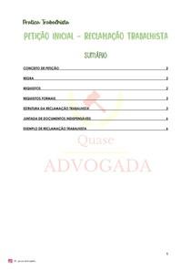 Requisitos da Reclamação Trabalhista - Modelo OAB