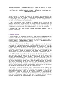 RESUMO Pierre Bourdieu   Espírito de Estado, gênese e estrutura do campo burocrático