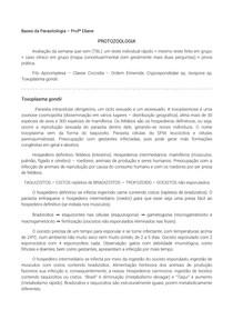 RESUMO TOXOPLASMOSE, CRIPTOSPORIDIOSE E ISOSPORÍASE