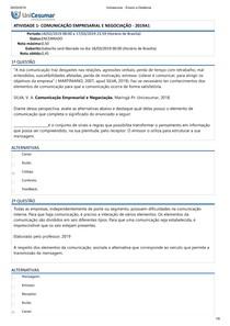 Atividade 1 Comunicaçãoempresarial e Negociação