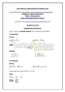 RADICIAÇÃO AULA 4 - PROPRIEDADES DOS RADICAIS - PROF ROBSON LIERS