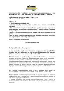 ATIVIDADE 03 E 04  FUNDAMENTOS EM ADMISTRAÇÃO E MARKETING