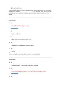 didatica: Planejamento e avaliação- atividade de aprendizagem  2