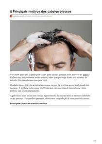 8 Principais motivos dos cabelos oleosos