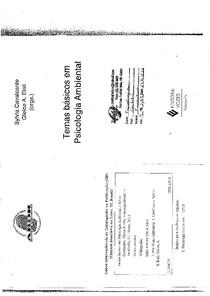 Temas básicos em psicologia ambiental