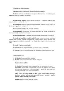 Direito Civil I-Resumo