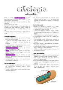 Citologia - Mitocôndrias