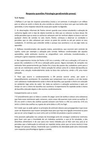 Resposta questões Psicologia Geral (Revisão Prova) docx