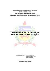 TRANSFERÊNCIA DE CALOR NA ENVOLVENTE DA EDIFICAÇÃO