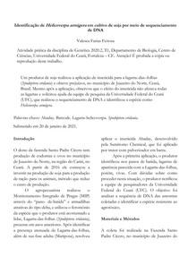 Artigo de Genética fictício sobre Sequenciamento de DNA: Identificação de Helicoverpa armigera em cultivo de soja por meio de sequenciamento de DNA