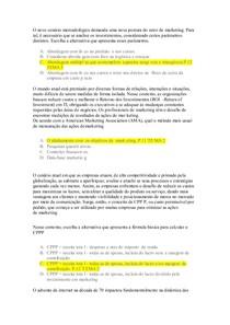 PROVA ACCONTABILITY MKT MBA ADMINISTRAÇÃO E MARKETING