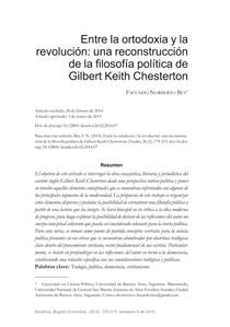 Entre la ortodoxia y la revolución - una reconstrución de la filosfía política de Gilbert Keith Chesterton