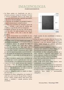 Imagenologia - Filmes radiográficos