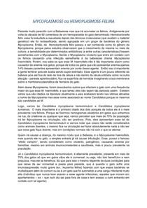 Hemoparasitoses Parte II - Micoplasmose