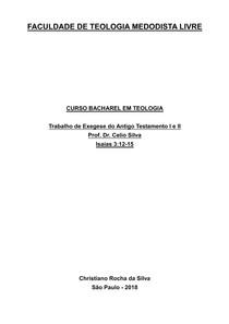 Isaias 3.12 15 MINHA VERSÃO impressão - Estudos Bíblicos I ( - 4 6af58d23dddeb