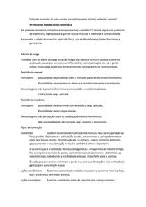 Protocolos de exercícios resistidos