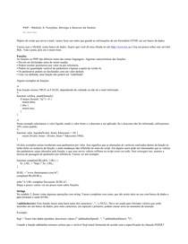 PHP - mod III