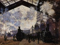 The Saint Lazare Station-Claude Monet