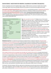 RESUMO - ANEMIAS 6ª FASE MÓD 3 TUTORIAL 5